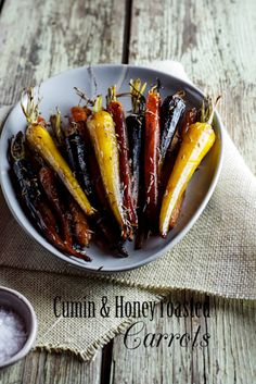 Cumin-Honey roasted Carrots. #Recipe #Christmas #Sides