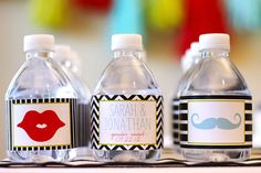 Water Bottle Labels - from Gender Reveal Kit - PRINTABLE