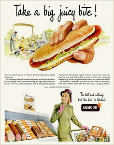 Armour Hot Dogs, 1949