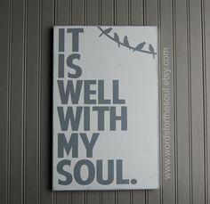 It is WELL with my SOUL Hymn Gospel birds wire Scripture Subway Art Wood Sign