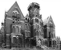 Danvers State Asylum.  Notoriously haunted.  Located near Salem, MA.  Nicknamed the witches castle on the hill (Hawthorne Hill).  The Salem witch trials started in Danvers (fka Salem Village).
