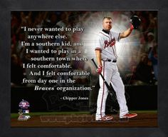 Chipper Jones Atlanta Braves Pro Quotes Framed 8x10 Photo by artworka
