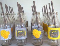 Drinks at a Sunshine Baby Shower #babyshower #sunshinedrinks