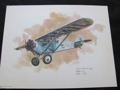 Vintage United Airlines Print Poster - Ryan M-1 - Galloway. $13.00, via Etsy.