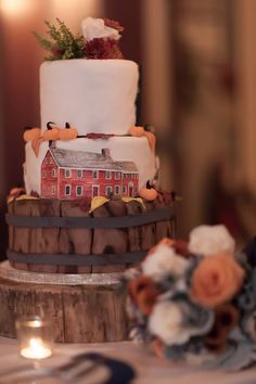 Old Sturbridge Village Wedding Cake - complete with Taverns & Carryall! Sin Bakery, RI