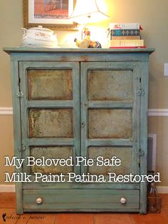 Antique Pie Safe Milk Paint Patina Restoration #TideThat #BrightIdeas #ad