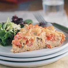 Frittata with Spaghetti and Tomatoes   MyRecipes.com #MyPlate #grain #protein #vegetable