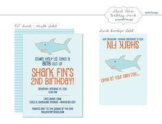 Shark Birthday Invites #yoyobirthday