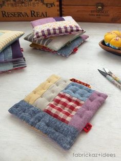 potholders patchwork and pincushions