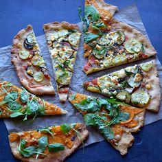 Flatbread Two Ways - Veggie & Goat Cheese Flatbread + Butternut Arugula & Gruyere Flatbread