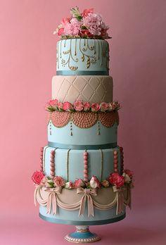 Marie Antoinette-Inspired Wedding Cake