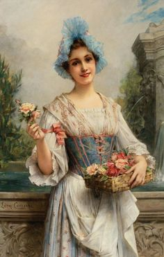Leon François Comerre (french painter) - The flower seller.jpg