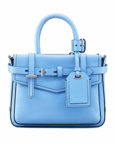 Boxer Micro Tote Bag, Blue - Reed Krakoff by: Reed Krakoff