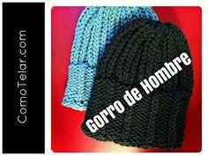 ▶ Gorro de Hombre con Telar Redondo / Circular - Mens Hat on Circular Loom in Spanish - YouTube