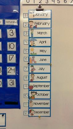 Part of my calendar kit...Print 2/page to make this small month chart.  The numbers are for teaching the digital date. (I used the numbers from the calendar also 2/per page to make smaller).