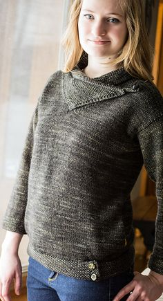 Ravelry: Spare Time Pullover pattern by Terri Kruse (and it has pockets! LOVE!)