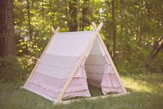 What an amazing idea!! Children's AFrame Ruffle Tent cover by Teepee and Tent