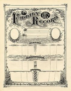 Printable Family Record