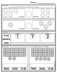 March morning work for Kindergarten. 40 pages of literacy and math activities ready to print and use!