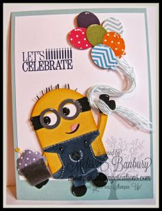 Porch Swing Creations: Minion Punch Art Birthday