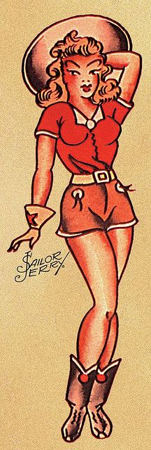 Sailor jerry girl pin up