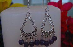 Sterling Silver with Amethyst dangle Earrings | eBay. $16.00