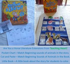Are You a Horse Literature Extensions - Free Pocket Chart, Activity to Match, and Little Book! west theme, school, cowboy theme, horses, teacher notebook, texa, extensions, western theme, wild west