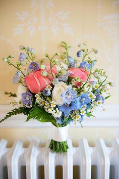 beautiful blue flowers bouquet