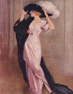 Victorian Art victorian art, poster paint, victorian dress, poster art, victorian ladi, victorian hats, pink, vintage ladies, fashion poster