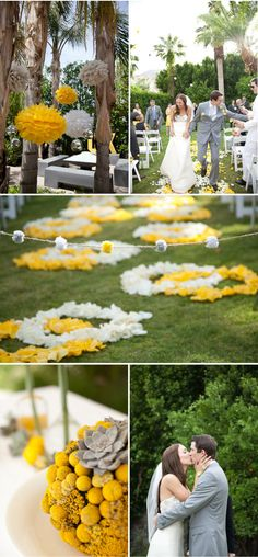 love the flowers down the aisle