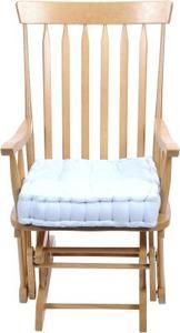 Sewing rocking chair cushions.