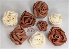 How to Make Modeling Chocolate Flowers that look like fabric!