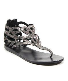 Pewter Kee Sha Gladiator Sandal gladiators, style, gladiat sandal, sha gladiat, gladiator sandals, sandal zulilyfind, shoe, kee sha, pewter kee