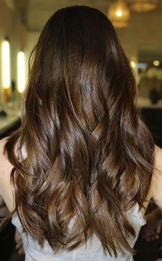 long hair, fall hair colors, curl, brunette hair, highlight