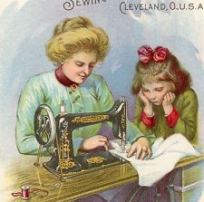 1800s Standard Sewing Machine Rotary Shuttle First Lesson Advertising Trade Card