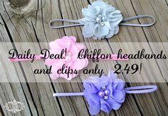 I love these headbands!  So pretty!