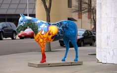 """""""Hoof Prints of the American Quarter Horse"""" is a city-wide public art display featuring more than 90 fiberglass replicas of the American Quarter Horse exhibited throughout Amarillo and Canyon, Texas."""
