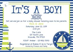 Set Sail Baby Shower Invitation on Etsy, $12.00