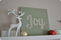 Use thumbtacks in canvas to make holiday sign Wall Art, At Home, Holiday Sign, Backgrounds, Christmas, Christma Idea, Holiday Idea, Canvases, Thumbtack Art