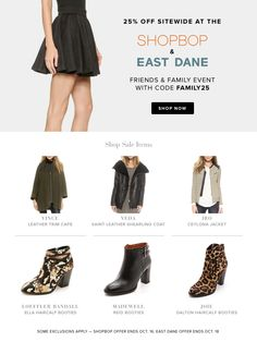 This week only — shop 25% off sitewide at Shopbop and East Dane with code FAMILY25. Click to shop!