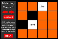 Reading Sight Word Games - FREE Website -- great for ActivBoards!!