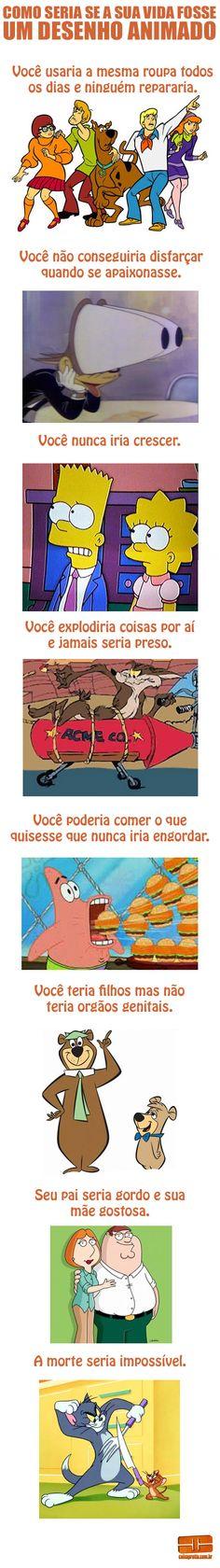 A vida é um cartoon! #cartoon #desenho