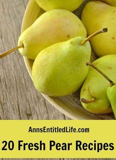 20 fresh pear recipes
