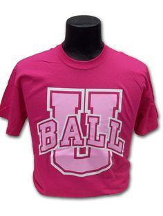 BALL U T-SHIRT yep it actually said that. Ball State University Muncie In