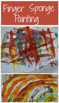 Open ended art project for toddlers and preschoolers.