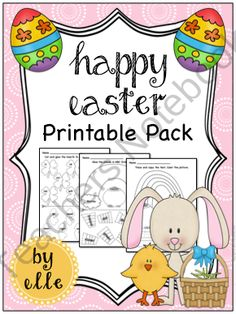 Easter Math and Literacy Printable Pack product from Elementary Elle on TeachersNotebook.com