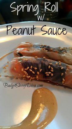 Spring Rolls with Peanut Sauce (gf, df)