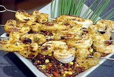 Spicy Barbecued Shrimp Skewers - el
