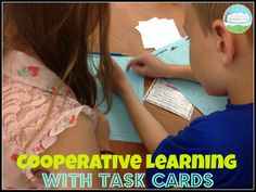 Cooperative Learning with Task Cards!  Get your kids TALKING about their answers with this fun (and free) activity!