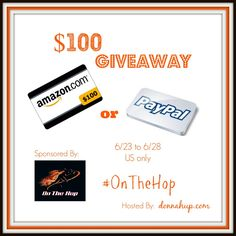 $100 Giveaway – Choice of Amazon or Paypal Gift Card